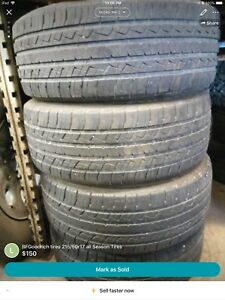 BFGoodrich Tires 215/50R17 Tires.  Good tread remaining