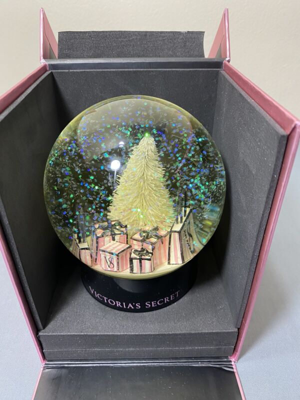 NEW In Box Victorias Secret Christmas Holiday Snowglobe