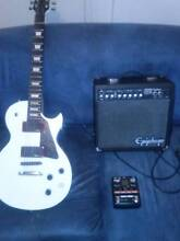 Les Paul, Amp, And analog modelling pedal Northmead Parramatta Area Preview