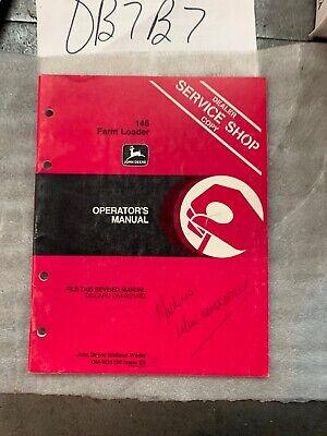 Oem John Deere 146 Farm Loader Owner Operator Maintenance Manual Omw35196 Nos