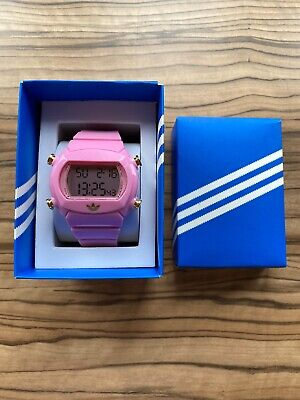 Adidas Originals Pink digital watch - used - RRP in mid 2000s £49.99