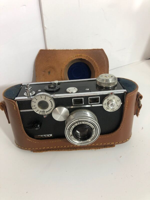 Vintage Argus Rangefinder Camera With Original Case Steampunk Art Untested