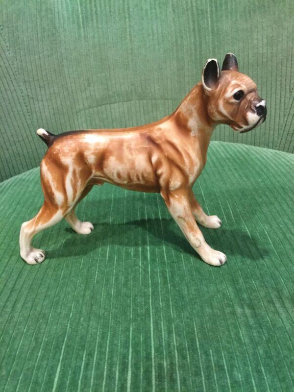 Vintage Made in Hong Kong No. 102 Plastic Boxer Dog Figure