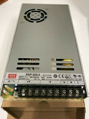Mean Well Rsp-320-5 Ac To Dc Switching Enclosed Power Supply