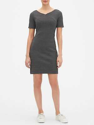Banana Republic Sheath Dress Petite NEW Black 100% Cotton Career NWT 2P,10P