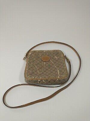 Vintage Gucci Authentic GG Brown Monogram Grunge Crossbody Bag