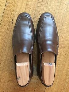 Allen Edmonds 'Bucktown Brown Leather Slip-On Loafers Men's 7.5D