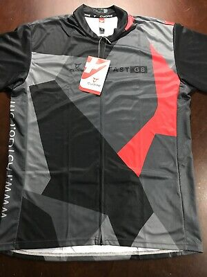 NWT Cuore Fast G8 Mens Full Zip Cycling S/S Offroad Freeride Sz L Jersey Large Freeride Cycling Jersey