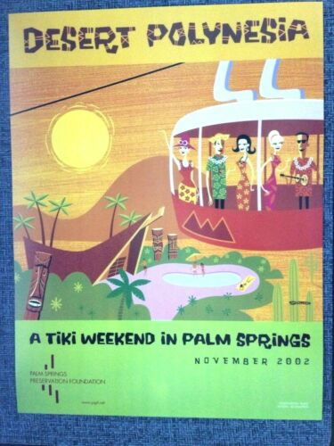Tiki Weekend SHAG Josh Agle Desert Polynesia 11 x 14  Print Poster 2002 Vintage