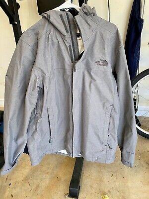 North Face Men's Venture Driven Waterproof Rain Jacket Mid-Grey Heather (Large)