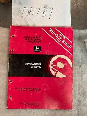 John Deere 2320 And 2420 Self-propelled Windrowers Operators Manual Om-e69421