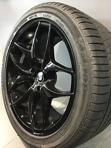 """BMW X5/ X6 RP BLACK 20"""" STAGGERED ALLOY WHEELS AND TYRES Carramar Fairfield Area Preview"""