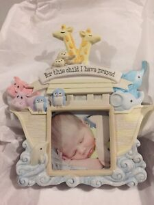 Noah's Ark Glass Picture Frame