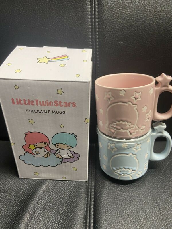 New In Box Sanrio x Loot Crate: Little Twin Stars Stackable Ceramic Mugs
