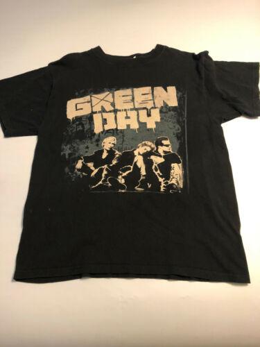 Green Day Mens 2009 Black USA Tour Rock Concert T-Shirt Size Large