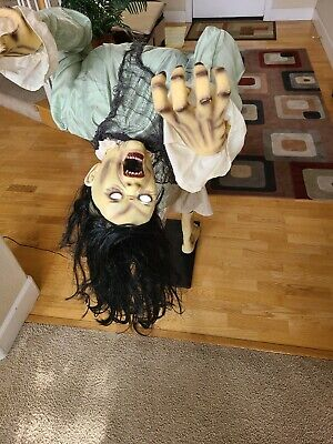 Spirit Halloween Broken Spine Girl Animatronic Prop Animated RARE RETIRED
