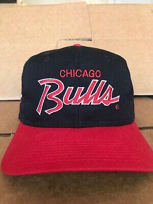 Vintage Chicago Bulls Script Sports Specialties Snapback Hat