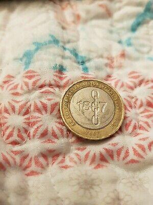 2 Pound Coin 1807 Abolition Of The Slave Trade - 2007 Coin 🌟