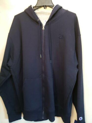 Champion Men's Powerblend Sweats Full Zip Jacket Navy XL