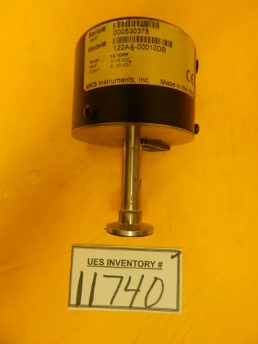 MKS Instruments 122AA-00010DB Baratron Pressure Transducer Used Tested Working