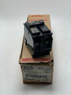 New Square D Hom220 Homeline 20 Amp 2 Pole 120240v Circuit Breaker
