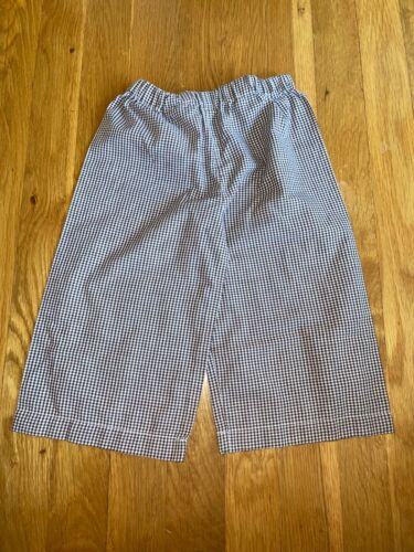 Boutique Toddler Boys Size 2T Brown & White Gingham Fall Pants