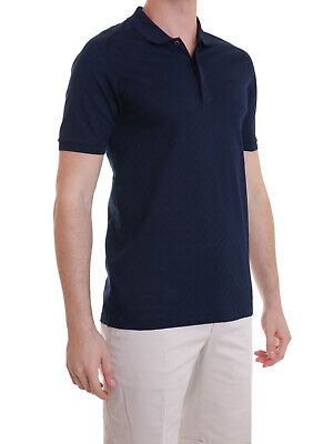 Versace Collection Mens Polo Shirt Navy Blue Size XL Authentic