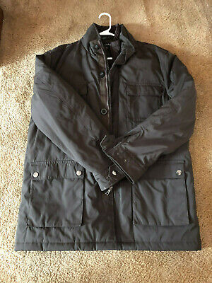 Nautica Men's Winter Coat~ Brown with quilted lining-Extra Large