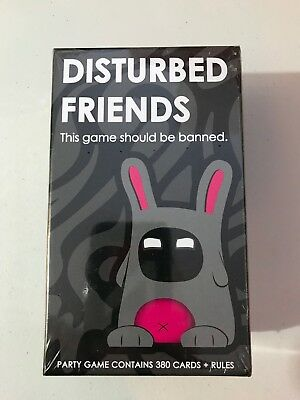 Disturbed Friends Party Card Game Brand New Factory Sealed Ages 21