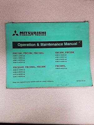 Mitsubishi Forklift Operation And Maintenance Manual See Pictures For Models