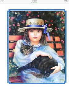 Chantal Poulain  Hat and Cat signed limited edition print