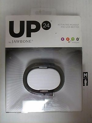UP 24 BY JAWBONE FITNESS ACTIVITY WRISTBAND  BLACK  MEDIUM   EL 1556