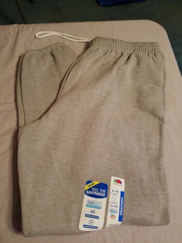 Fruit of the Loom Light Gray Sweat Pants  - size XL new with