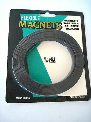 Flexible Magnets Magnetic Tape 12 X 10 Long With Adhesive Backing Sh14