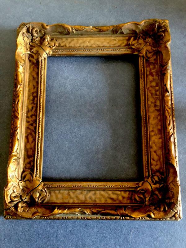 Antique Redwood , Gesso  Ornate Picture Frame, Circa 1900-10