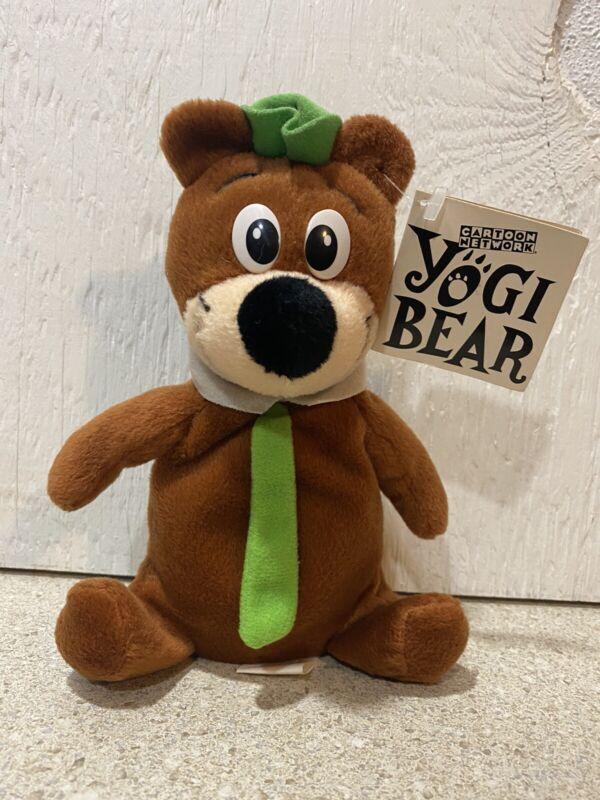 "Cartoon Network 1995 Yogi Bear Plush Stuffed Animal Collectible Rare w/ Tag - 7"""