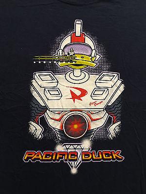 DuckTales PACIFIC DUCK Gizmoduck Black T-Shirt Sz. XL - Pacific Black Duck