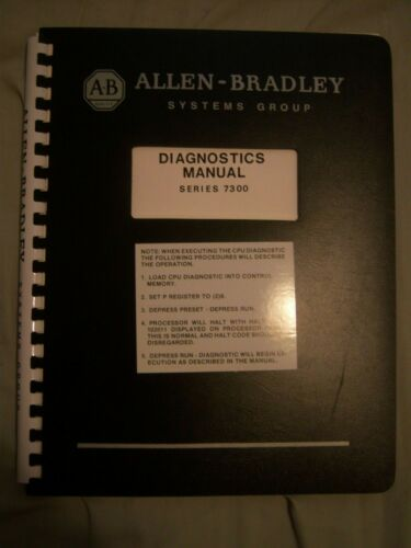 Allen-Bradley Diagnostics Manual for Series 7300 1976