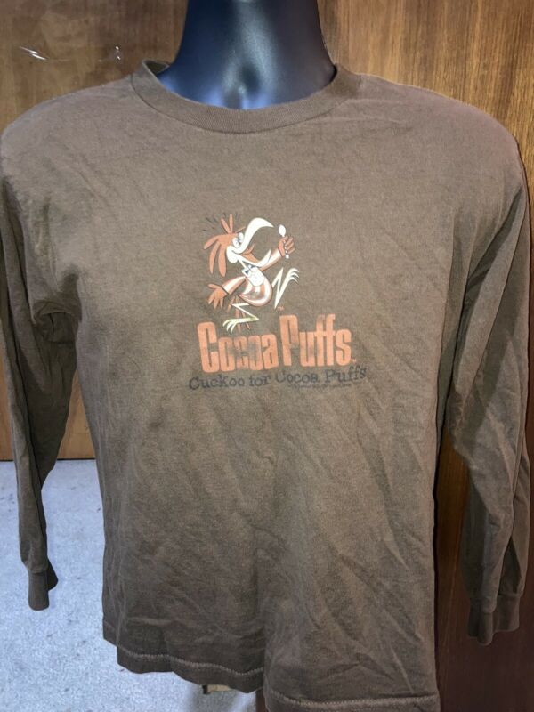 Cuckoo for Cocoa Puffs long sleeve Snack Tee T-SHIRT Preowned YOUTH Large Vtg