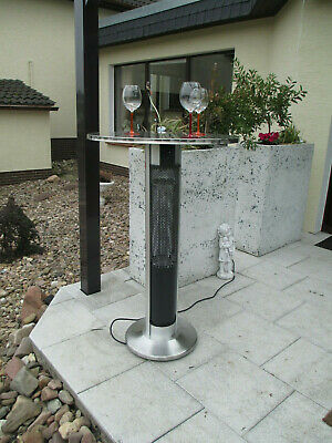 Stehtisch mit Infrarot Heizung 1600W Aluminium Garten Terrasse Balkon
