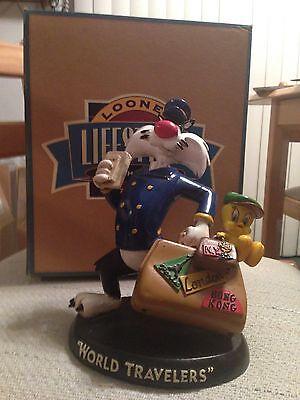 Warner Brothers Looney Tunes Sylvester & Tweety World Travelers Statue Figurine