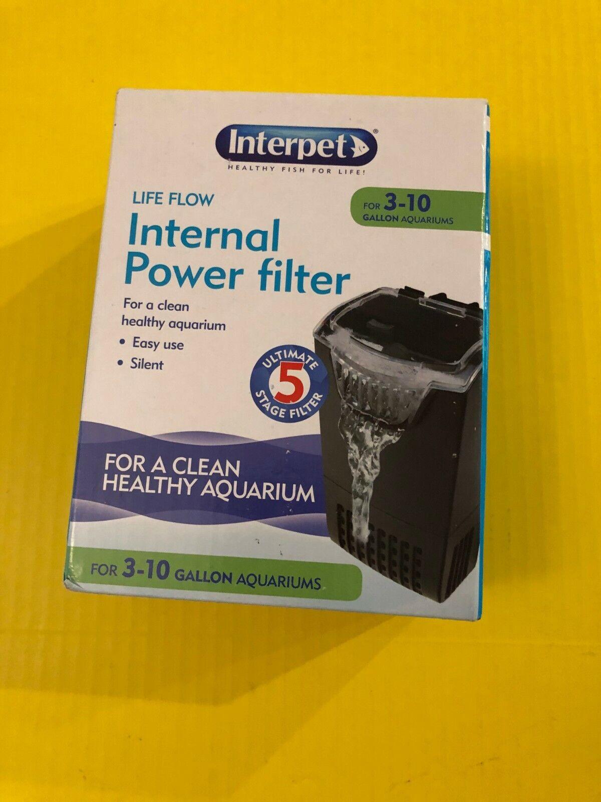 NEW Interpet Life Flow Internal Power Filter for 3 - 10 gall
