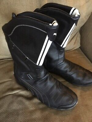 Ducati race boots Zipper riding men's 12 puma black MOTORCYCLE
