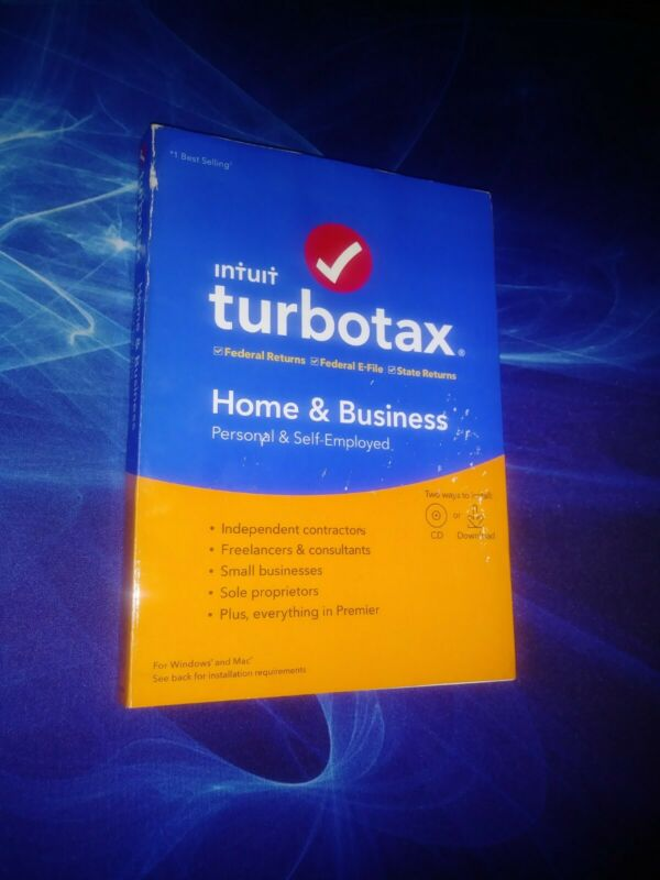 NEW/Cover Damage (Turbo Tax Home and Business) Windows and Mac 2019