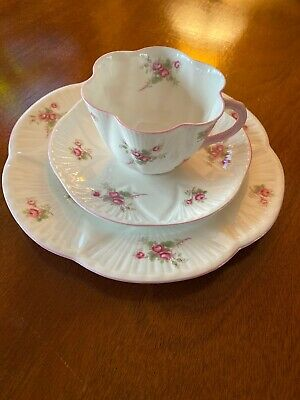 Shelley England Bridal Rose Tea Cup Set With Luncheon Plate 3 Piece -