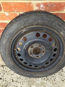 Holden Astra stud pattern 15inch as new tyre & steel rim 1 only Melbourne CBD Melbourne City Preview