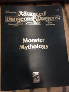Advanced dungeon and dragons 2nd edition monster mythology