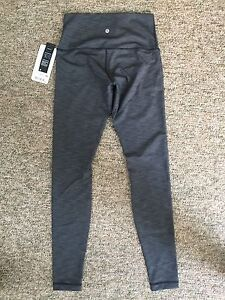 Size 8 grey lululemon leggings