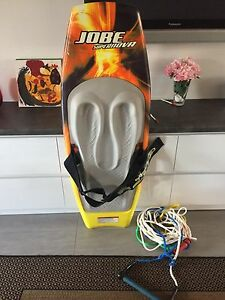 FIBREGLASS JOBE SUPERNOVA KNEEBOARD WITH ROPE Meadow Heights Hume Area Preview