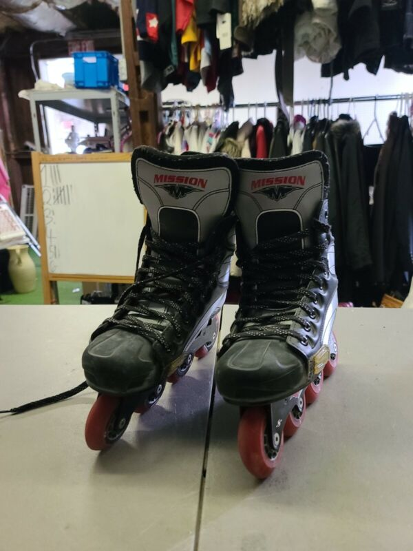 Mission Hi-Lo 500 Helium Roller Hockey Inline Skates Roller Blades Size 8E